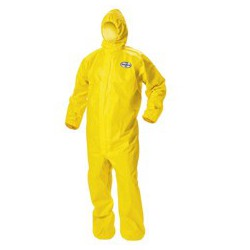 Traje amarillo con capucha...