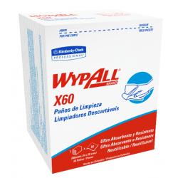 Paños Wypall X 60 QUARTERFOLD  (34 x 29 cm)