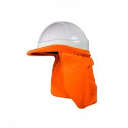 Cubrecuello Reflectivo Para Casco Naranjado