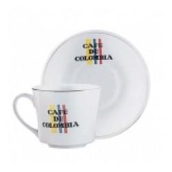 Plato y Pocillo Tinto Café De Colombia