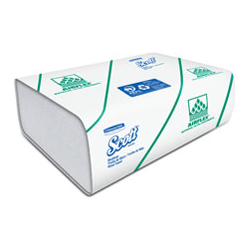Toalla de Manos en  Z  150 toallas Ahorramax Blanca x 20 Paquetes - 25 x 24,5 cm- 28,5 gr-