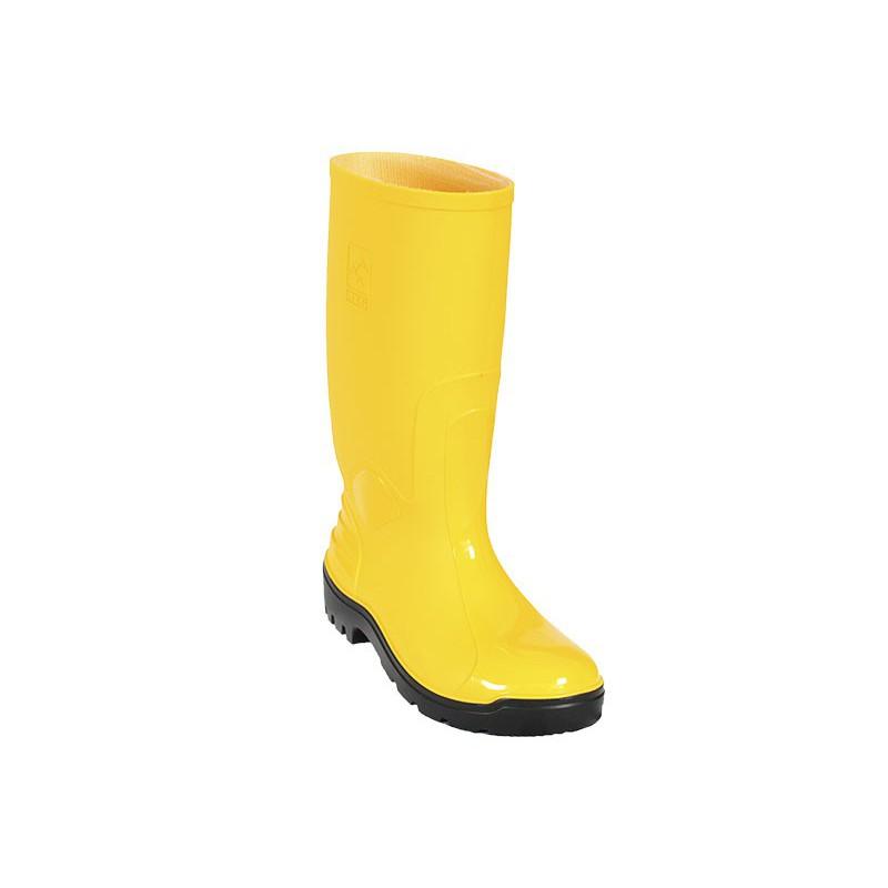 Bota PVC Ats 703 Amarilla Rh Con Puntera Calzado 3025 (Talla 36-44)