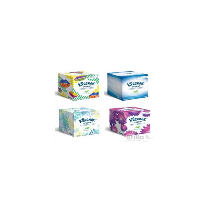 Pañuelo Facial Kleenex Cubo - Triple Hoja 4 diseños x 60 pañuelos