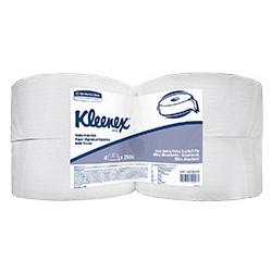 Papel Higiénico Doble Hoja  Kleenex Blanco x 4 rollos x 250 mts Dispensado  - Rollo Jumbo (HOJA DOBLE)