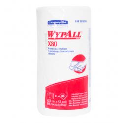 Rollo Wypall  x 80 paños Antibacterial Roll (42 x 28 cm)- TRABAJO PESADO Y SUPERFICIES RUGOSAS