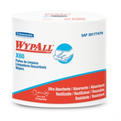Wypall X60 Jumbo Roll (200 mt) (44 x 25 cm) x 16 PañosTrabajo Liviano y Multiusos