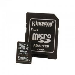 Mem 16Gb Microsd Clase 4 + Adaptador Sd   Memoria Micro Sd Clase 4 16Gb
