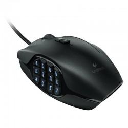 MOUSE G600 MMO Logitech Gaming Alámbrico USB 8000DPI Compatible Win-Mac 20Botones Programables RGB Lightsync G HUB Garantía 3A