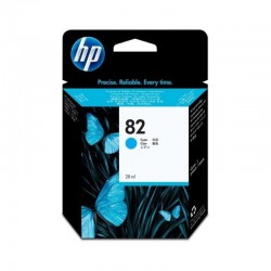 Cartucho de tinta HP 82 DesignJet cian de 69 ml