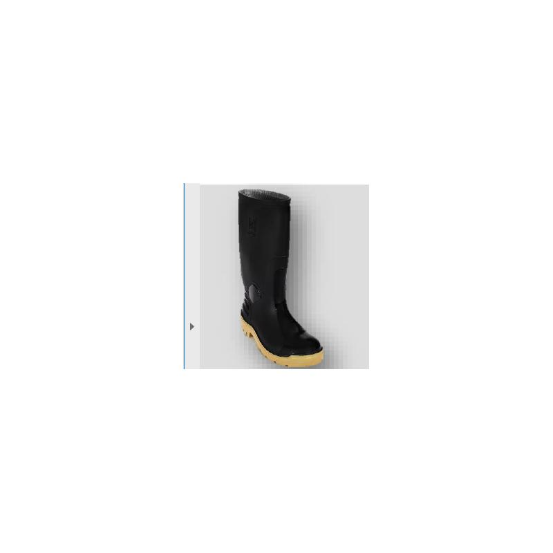 Bota Pvc Ats 701 Negro Crepé Con Puntera Calzado 3025 (Talla 36-44)
