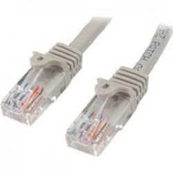 Cable 5m de red Cat5e snagless Gris