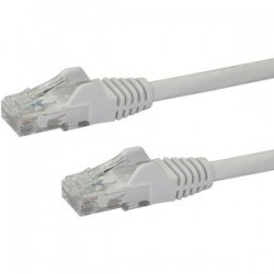 Cable Red 0,5m Blanco Cat6 sin Enganche