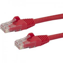 0.5m Red Snagless Cat6 Patch Cable