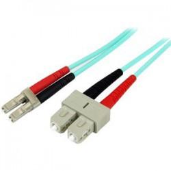 5M 10 GB AQUA FIBER PATCH CABLE LC/SC