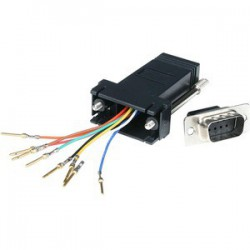 DB9 to RJ45 Modular Adapter - M/F