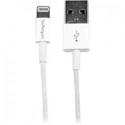 1m White Slim Lightning to USB Cable
