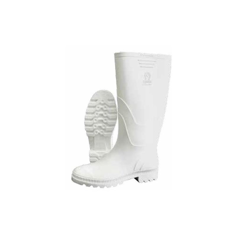 Bota PVC Blanca Llanera Clásica sin Puntera (Talla 34 a 44)