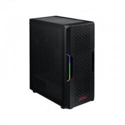 Chasis gamer XPG by ADATA STARKER Negro / ATX / Vidrio templado X1 / 1 Fan cooler ARGB + 1 Fan Cooler Standard + Fuente de poder