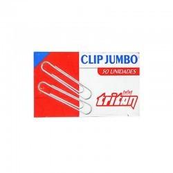 Clip Metalico Jumbo caja x 50und