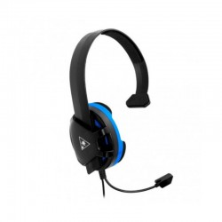 Audífonos Gaming alámbrico con micrófono Turtle Beach Recon color negro, para PlayStation PS4, Jack 3.5mm