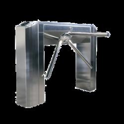 Torniquete Electromecánico Bidireccional de Acero AISI 304 con Acabado Satín / Desbloqueo Automático del Trípode en Caso de