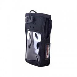 Funda reforzada de Nylon, clip metálico en cinto, correa de broche y visor frontal / IC-F1000T/09 o IC-F2000T/09.