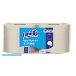 Papel higiénico Familia natural hoja sencilla Jumb  Ecol 400mt paqx4u 71357