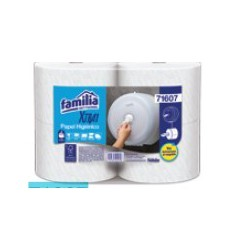 Papel higiénico Jumbo blanco doble hoja  Xtra1Bco x207mt x4un 71607
