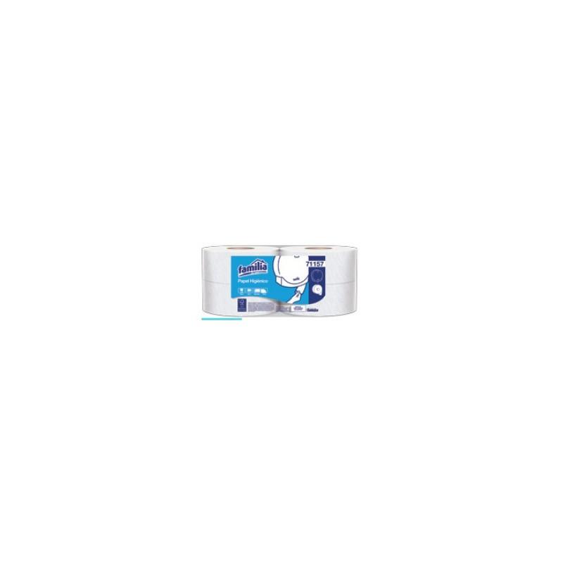 Papel higiénico Jumbo Blanco doble hoja x 250mt x 4 unidades 71157