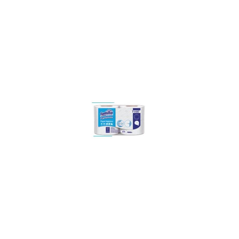 Papel higiénico Jumbo Famimax blanco precortado Triple hoja x 4 rollos x 95mt 71197