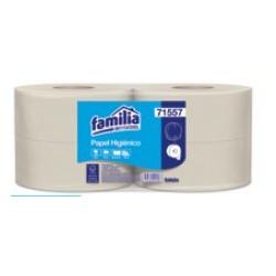Papel higiénico Jumbo Natural hoja sencilla 550mt px4u 71557-51