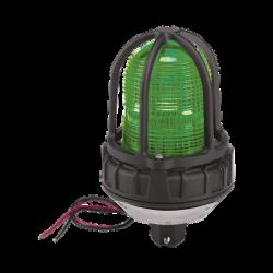 Luz de advertencia LED para ubicaciónes peligrosas, montaje tipo tubo, 24Vcd, verde