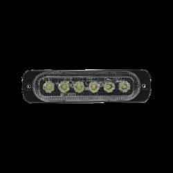 Luz direccional con 6 LEDS, color claro, 12-24 VCD
