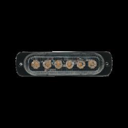 Luz direccional con 6 LEDS, color ambar, 12-24 VCD