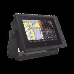 EchoMAP UHD 722XS con sonar ClearVü y Traditional CHIRP Sonar con mapa base mundial.