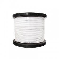 Caja de Cable 305 m, RG59 + 2 Hilos Calibre 18 Color Blanco.