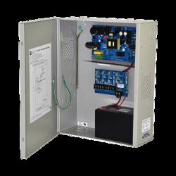 Fuente de poder UL de 4 salidas con respaldo de batería / 12VCD a 10A Continuos