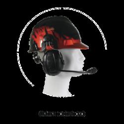 Orejeras duales inalámbricas para montar en casco compatible con adaptadores PRYME BLU, radio y dispositivos bluetooth, con fun