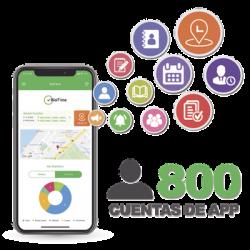 Licencia para realizar checadas de asistencia desde Smartphone (APP) con envío de fotografía y ubicación por GPS / Compatible