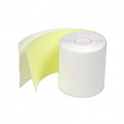 Rollos En Papel Químico 76 mm x 30m A Una Copia Amarilla. Caja x 60