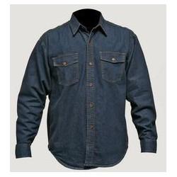 Camisa en Tela Índigo Jean