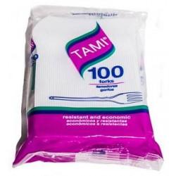 Tenedor Desechable Tamy Grandex 100 unidades