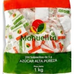 Azucar Sobres Manuelita Bolsa x 200 s x 5 gr