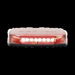 "Micro barra LED Reflex de 11"", 12-24Vcd, montaje permanente, lente claro, LED color rojo"