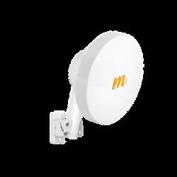 Suscriptor CPE MU-MIMO hasta 500+ Mbps, 4.9 - 6.2 GHz, Antena 20 dBi, IP 67, Puerto Gigabit, Para enlaces Punto-Multipunto