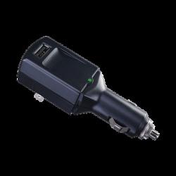 Cargador USB Portátil, Con Entrada 120 Vca o Toma Vehicular (encendedor de cigarrillos), Puerto USB de 5 Vcd 1 Amp