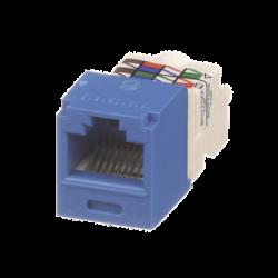 Conector Jack RJ45 Estilo TP, Mini-Com, Categoría 6, de 8 posiciones y 8 cables, Color Azul