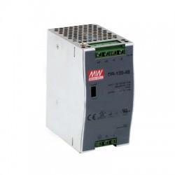 Fuente de poder 48Vcd, 120W, 2.5A, industrial conmutada montaje en din riel