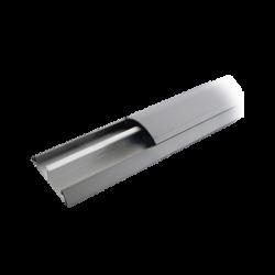 Ducto de media caña de aluminio, tramo de 2.5m de largo (8801-80300)