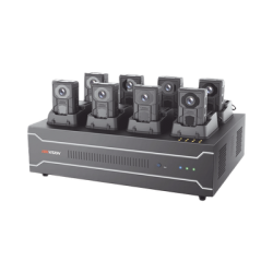Estación de Carga y Respaldo de Información para Bodycam HIKVISION (DS-MH2211)/ Incluye 1 HDD de 4 TB